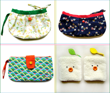 great prints = cute clutches - Oh Joy!